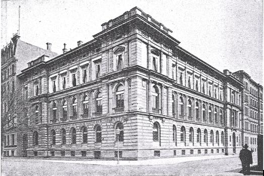 Skats uz ēku K. Valdemāra ielā 1B 1903. gadā