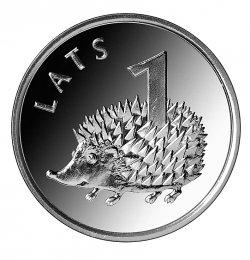 1 lata monēta ar ezi