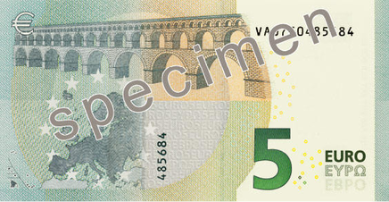 Jaunā 5 eiro banknote