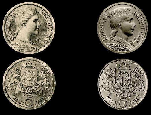 Piecu latu monēta
